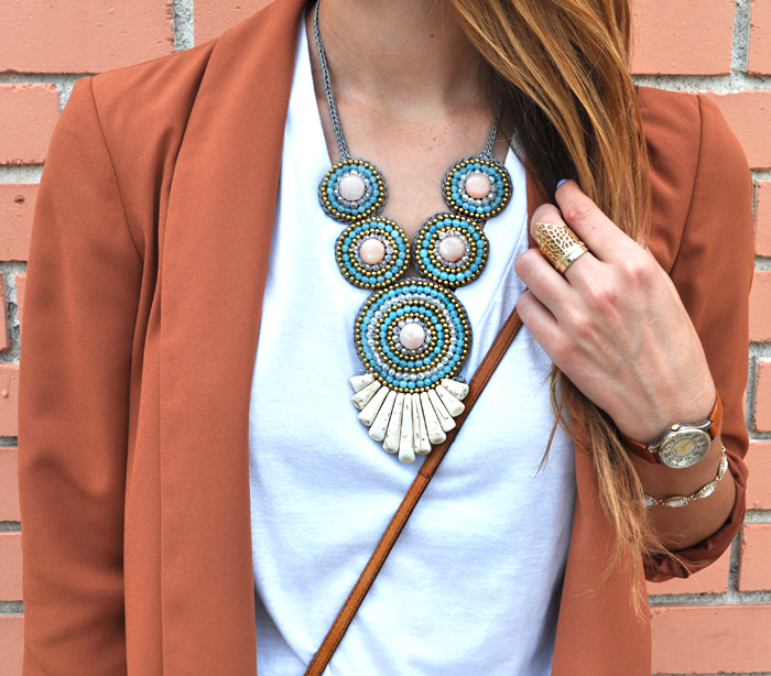 livvyland-blog-olivia-watson-fashion-blogger-austin-texas-colored-blazer-burnt-orange-boyfriend-shorts-panacea-bib-necklace-2