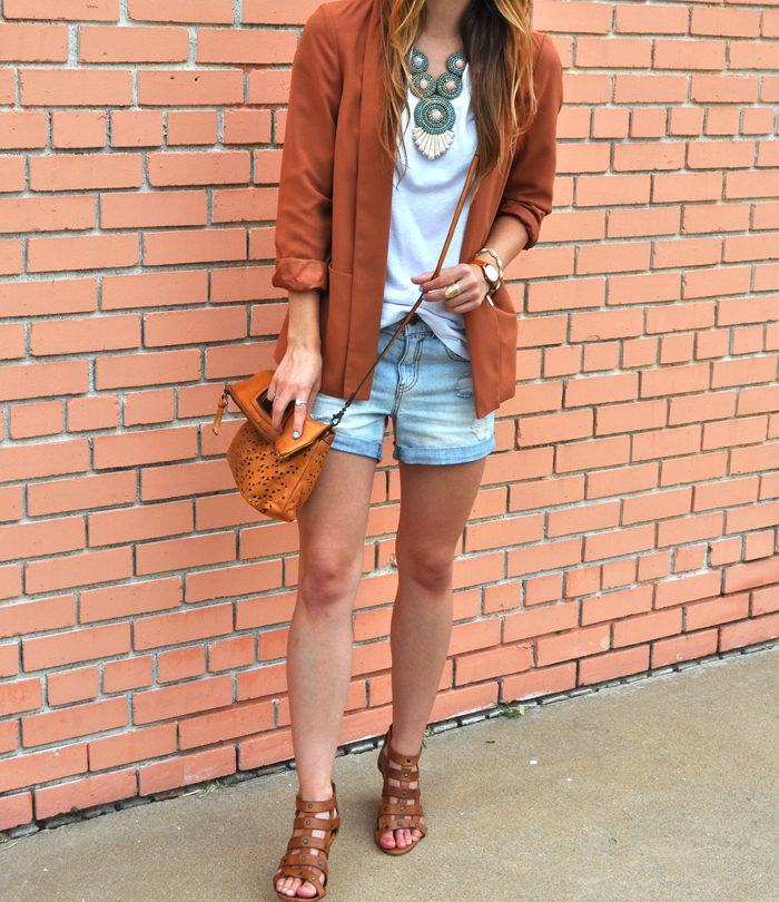 livvyland-blog-olivia-watson-fashion-blogger-austin-texas-colored-blazer-burnt-orange-boyfriend-shorts-panacea-bib-necklace-5