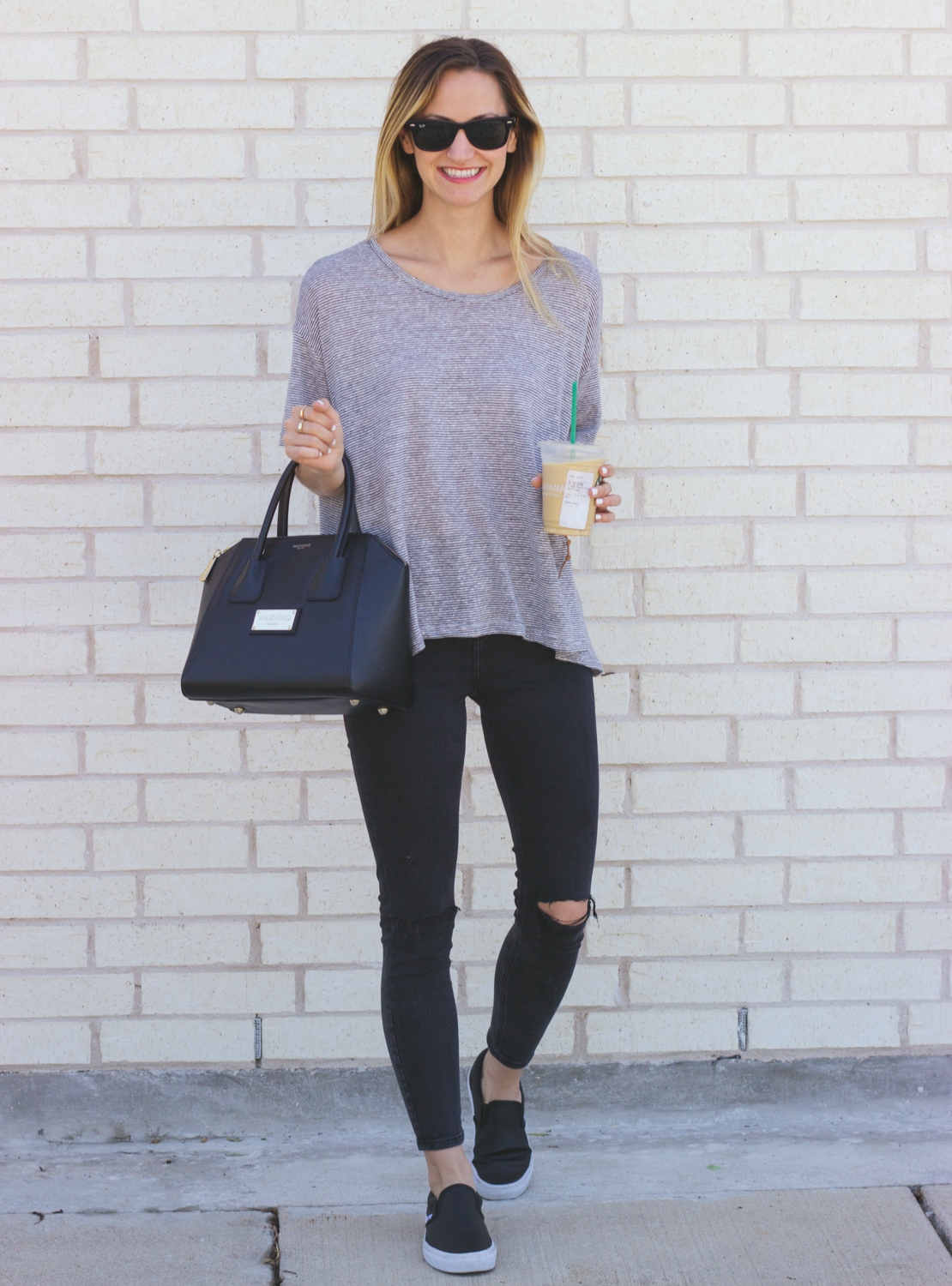 Casual Tee u0026 Slip-On Sneakers - LivvyLand | Austin Fashion and Style Blogger