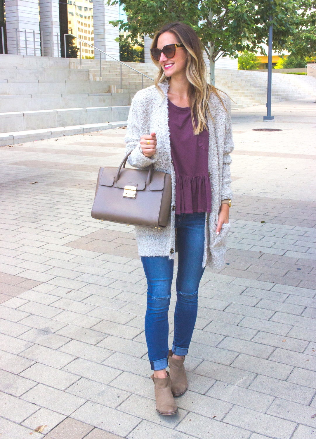 1-livvyland-blog-olivia-watson-cozy-fall-outfit-grandpa-oversize-cardigan-sweater-seychelles-snare-booties-3