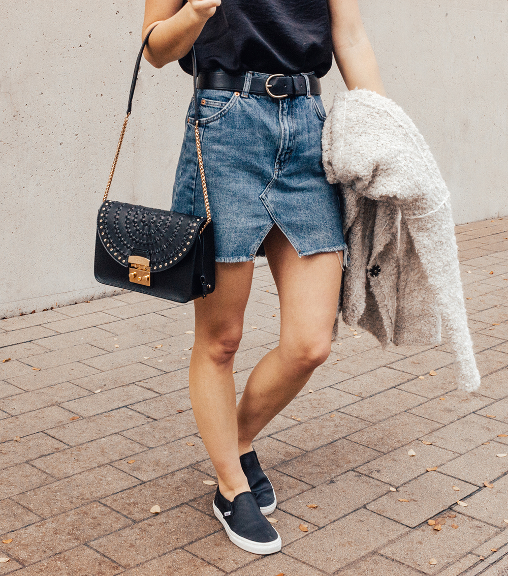 denim mini skirt livvyland fashion and style